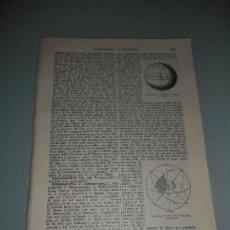 Coleccionismo: LÁMINA ESPASA - ZAP 54 - COSMOGRAFÍA. Lote 118015639