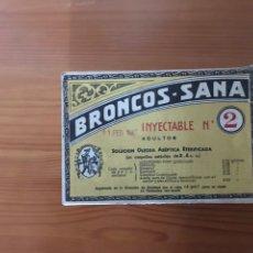Coleccionismo: BRONCOS-SANA INYECTABLE CAJA. Lote 118050919