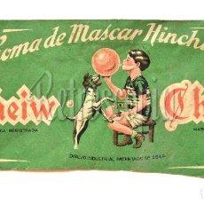 Coleccionismo: GORRA DE PAPEL / VISERA PUBLICIDAD DE CHICLE / CHICLES GOMA MASCAR CHEIW AÑOS 50. Lote 118111927