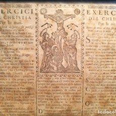 Colecionismo: GOIG GOZO --EXERCICI DEL CHRISTIA PER LO MATI PER LA NIT--S.JOSEPH-S.VICENS PAÙL--SIGLO XVII. Lote 118147371