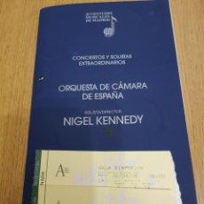 Coleccionismo: 2 ENTRADAS MÁS PROGRAMA DE MANO 2.008 .ORQUESTA DE CÁMARA DE ESPAÑA 30/4/2008. Lote 118299998