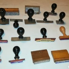 Coleccionismo: GRAN LOTE 16 SELLOS CUÑOS ANTIGUOS DE MADERA. Lote 118504244