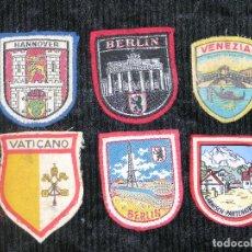 Coleccionismo: F1 ESCUDOS DE ROPA DE BERLIN, VENEZIA,BERLIN HANNOVER,VATICANO,GARMISCH-PARTENKIRCHEN. Lote 118658139