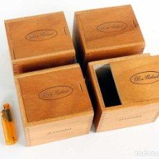 Collezionismo: LOTE 4 CAJITAS PURITOS DON GABRIEL. MADERA HAYA. NUEVAS.. Lote 223071478