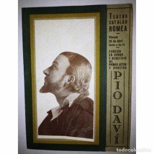 PROGRAMA DESPLEGABLE TEATRO - JESÚS QUE TORNA - ANGEL GUIMERA - PIO DAVI - Teatro catalán Romea