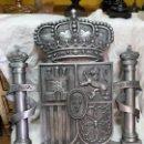 Coleccionismo: EXTRAORDINARIO ESCUDO DE ESPAÑA EN ALUMINIO, MATRIZ PARA EL CONGRESO DIPUTADOS.. Lote 119705531