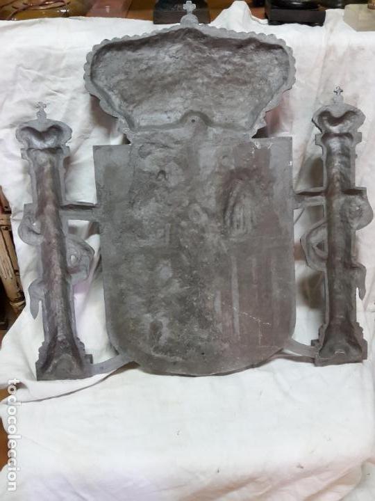 Coleccionismo: Extraordinario escudo de España en aluminio, matriz para el congreso diputados. - Foto 2 - 119705531