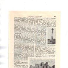 Coleccionismo: SALVATIERRA DE LOS BARROS (BADAJOZ) CASTILLO - LÁMINA ESPASA Z-556. Lote 120020435