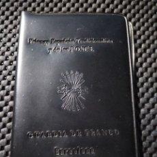Coleccionismo: CARTERA PLASTICO .- FALANGE ESPAÑOLA TRADICIONALISTA DE LAS JONS .- GUARDIA DE FRANCO. Lote 120343680