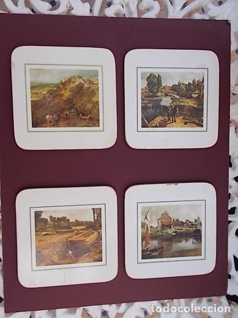 Lote 4 Antiguos Posavasos De Madera Diferentes Comprar En - Cuadros-diferentes