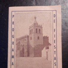 Coleccionismo: PROGRAMA DE FIESTAS EN FABARA ZARAGOZA AGOSTO DE 1958. Lote 120624563