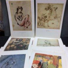 Coleccionismo: LAMINAS DE ARTE - LOTE DE 65 LAMINAS. Lote 120779711