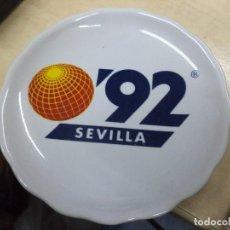 Coleccionismo: POSAVASOS DE CERÁMICA SEVILLA 92.EXPO 92.. Lote 120963583