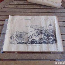 Coleccionismo: PUERTO DE MALAGA VISTO DESDE GIBRALFARO DE LA RUE PARIS AGUESDON. Lote 121128035