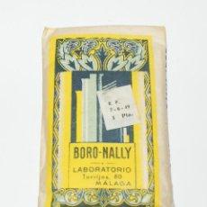Coleccionismo: SOBRE DE BORO NALLY-LABORATORIO NALLY-MALAGA-FARMACIA. Lote 121461411