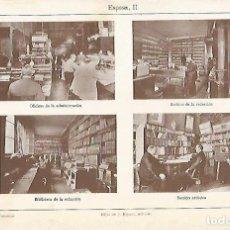 Coleccionismo: LAMINA ESPASA 7837: VISTAS DE LA EDITORIAL ESPASA. Lote 121787146
