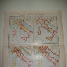 Coleccionismo: LAMINA ESPASA 7280: MAPAS DE LA HISTORIA DE ITALIA. Lote 121838826