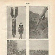 Coleccionismo: LAMINA ESPASA 21460: BOMBAS DE LA PRIMERA GUERRA MUNDIAL. Lote 122022808
