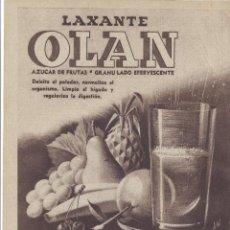 Coleccionismo: AÑO 1956 RECORTE PRENSA PUBLICIDAD LAXANTE OLAN DIGESTOVITAL. Lote 122095927