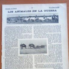 Coleccionismo: ALREDEDOR DEL MUNDO. LOS ANIMALES EN LA GUERRA.. Lote 122178311