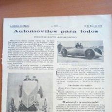 Coleccionismo: ALREDEDOR DEL MUNDO. AUTOMÓVILES PARA TODOS.. Lote 122178471