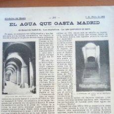 Coleccionismo: MADRID. ALREDEDOR DEL MUNDO. EL AGUA QUE GASTA MADRID.. Lote 122178786