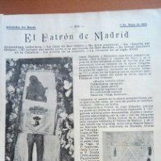 Coleccionismo: SAN ISIDRO. ALREDEDOR DEL MUNDO. EL PATRÓN DE MADRID.. Lote 122179451