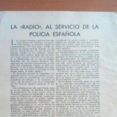 Coleccionismo: REVISTA BLANCO Y NEGRO. LA RADIO AL SERVICIO DE LA POLICÍA ESPAÑOLA. 1935. Lote 122179702
