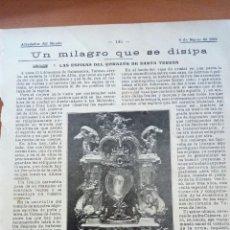 Coleccionismo: SANTA TERESA. UN MILAGRO QUE SE DISIPA. ALREDEDOR DEL MUNDO. Lote 122180252