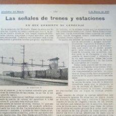 Coleccionismo: ALREDEDOR DEL MUNDO. LAS SEÑALES DE TRENES Y ESTACIONES.. Lote 122180478