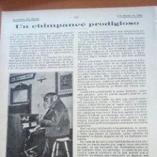 Coleccionismo: ALREDEDOR DEL MUNDO. UN CHIMPANCÉ PRODIGIOSO/ LOS TRANVÍAS.. Lote 122180742