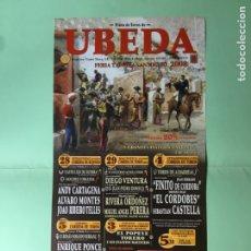 Coleccionismo: FOLLETO PROGRAMA DE CORRIDA DE TOROS, ÚBEDA , FERIA TAURINA SAN MIGUEL ,NUEVO. Lote 122184179