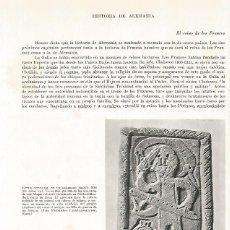 Coleccionismo: LAMINA 9893: LAPIDA DE UN GUERRERO FRANCO. Lote 122185524