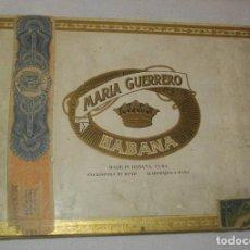 Coleccionismo: ANTIGUA CAJA DE PUROS VACIA , MARIA GERRERO,(( ÉPOCA PRE REVOLUCIÓN, CUBA)). Lote 122248523