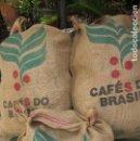 Coleccionismo: 3 SACOS DE ARPILLERA O YUTE PUBLICIDAD CAFÉ DE BRASIL. Lote 122756079