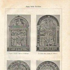 Coleccionismo: LAMINA ESPASA 13686A: ESCULTURAS HECHAS POR DELLA ROBBIA. Lote 122772662