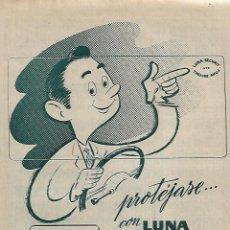 Coleccionismo - AÑO 1962 RECORTE PRENSA PUBLICIDAD LUNA SECURIT LUNA PULIDA CRISTAÑOLA - 122998291