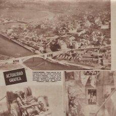 Coleccionismo: AÑO 1962 RECORTE PRENSA MARISMA RIO LEREZ PONTEVEDRA MEQUINENZA VISITA MINISTRO VIGON AYUNTAMIENTO. Lote 123285543