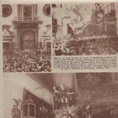 Coleccionismo: AÑO 1962 RECORTE PRENSA SEVILLA FUNERAL HOMENAJE JUAN BELMONTE MADRID TRONO COFRARIA GRAN PODER . Lote 123285763