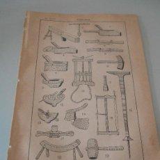 Coleccionismo: *.- ANTIGÜA LÁMINA SALVAT Y C., S. EN C., EDITORES - GRABADO DE TONELERIA. Lote 123380483