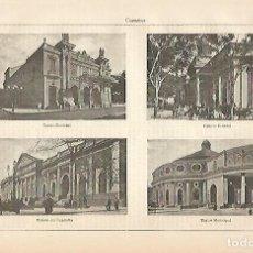 Coleccionismo - LAMINA ESPASA 4279: Edificios de Caracas Venezuela - 124030172