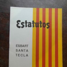 Coleccionismo: ESTATUTOS DEL ESBART SANTA TECLA TARRAGONA. 1973. Lote 124031183