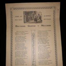 Coleccionismo: GOZOS, GOIGS, EN ALABANÇA DELS SANTS REYS MAGOS BALTASAR, GASPAR Y MELCHIOR. OLOT, 1922. Lote 124403039