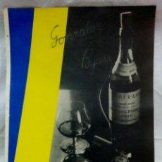 Coleccionismo: LAMINA - POSTER COÑAC SOBERANO. LAMINA DE REVISTA AÑO 1937. GRAFICAS LABORDE Y LABAYEN, TOLOSA.. Lote 124506563