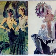 Coleccionismo: DOS LAMINAS - POSTER DE MODA, APARECIDOS EN REVISTA AÑO 1937. GRAFICAS LABORDE Y LABAYEN, TOLOSA.. Lote 124506875