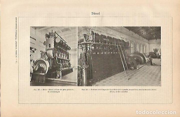LAMINA ESPASA 5377: MOTOR DIESEL ATLAS (Coleccionismo - Laminas, Programas y Otros Documentos)