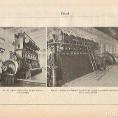 Coleccionismo: LAMINA ESPASA 5377: MOTOR DIESEL ATLAS. Lote 124609755