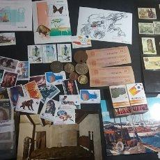 Coleccionismo: LOTE DE SELLOS, MONEDAS, POSTALES, TOKEN Y VARIOS. Lote 124725082