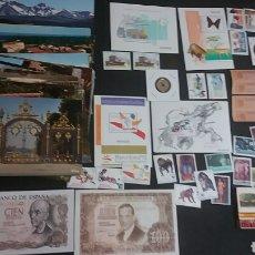Coleccionismo: LOTE DE SELLOS, MONEDAS, POSTALES Y MÁS. Lote 124741783