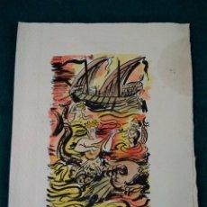 Coleccionismo: MENU DEL CARNAVAL DE 1953 CLUB NAUTICO DE TARRAGONA .- ILUSTRADOR JOSEP SAROBÉ CASTELLÓ. Lote 124922368